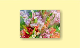 абстракция цветы рисунок живопись