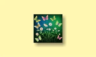 абстракция рисунок бабочки цветы