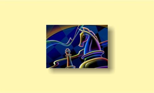абстракция шахматы конь