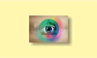 абстракция пирамида глаз графика