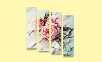 розы лепестки стол