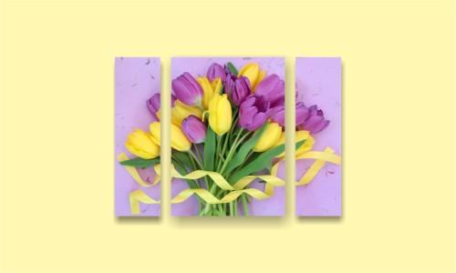 тюльпаны букет лента