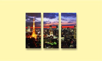 ночной Париж Эйфелева башня