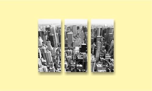город с птичьего полета небоскребы
