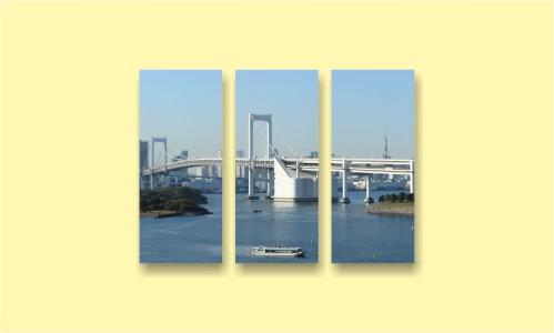 Азия мост море корабли город