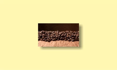 зерна кофе бумага