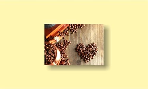 кофейное сердце зерна кофемолка