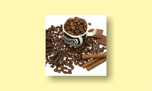 зерна в кружке шоколад