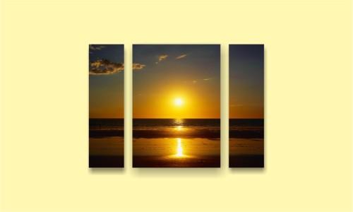 море солнце закат